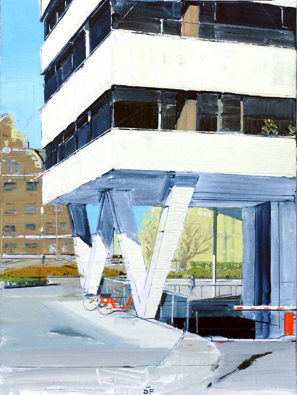 Juraj Florek Dozsa_Gyorgy_metro_80x60cm, oil on canvas