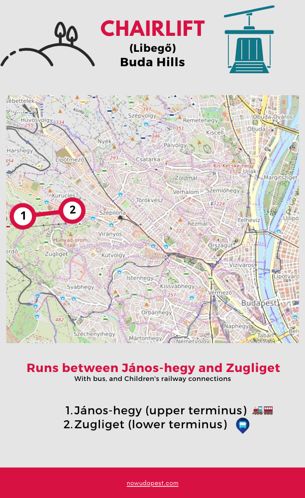 Chairlift map Budapest