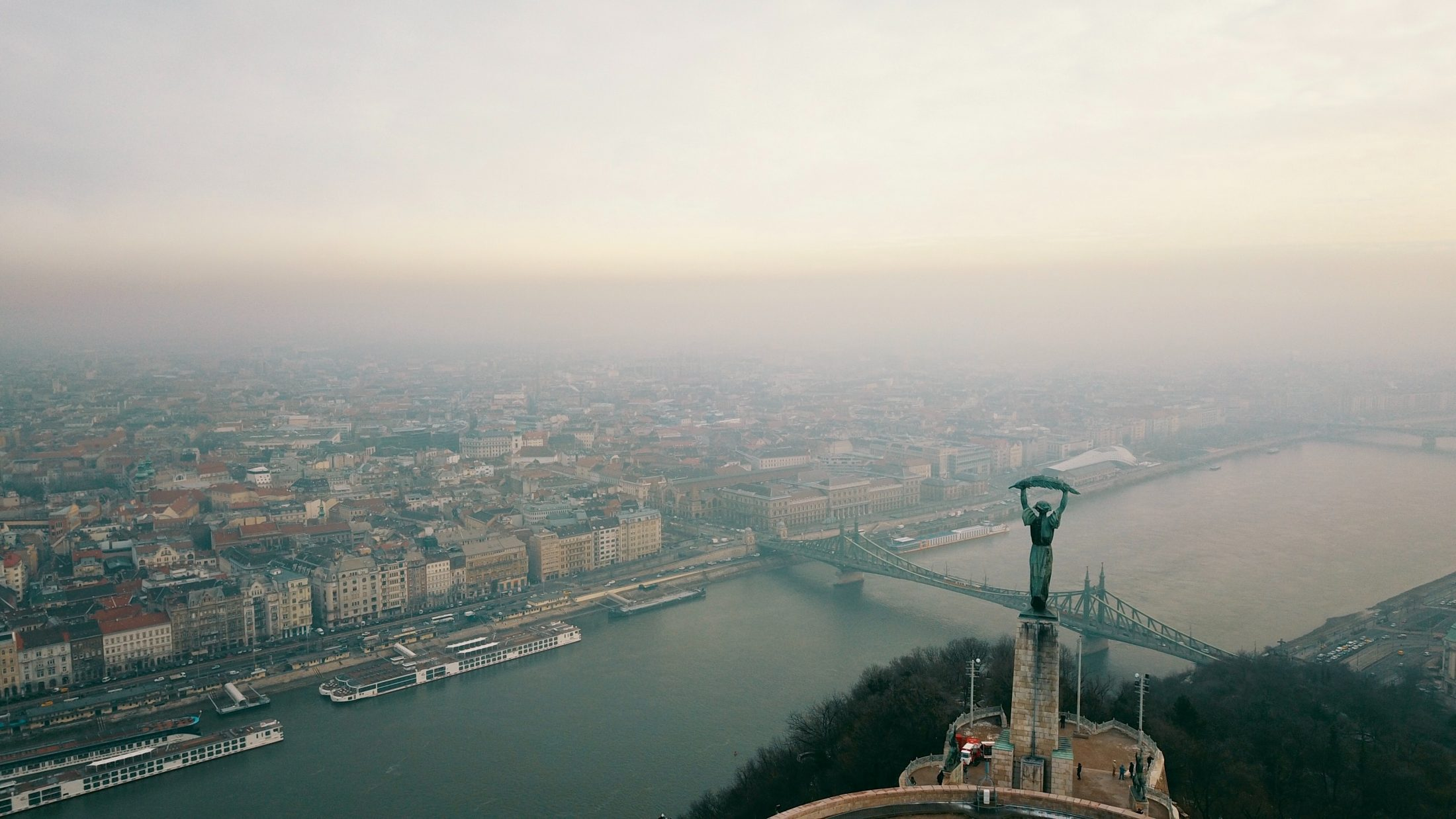 Budapest aerial view by Eli Levit